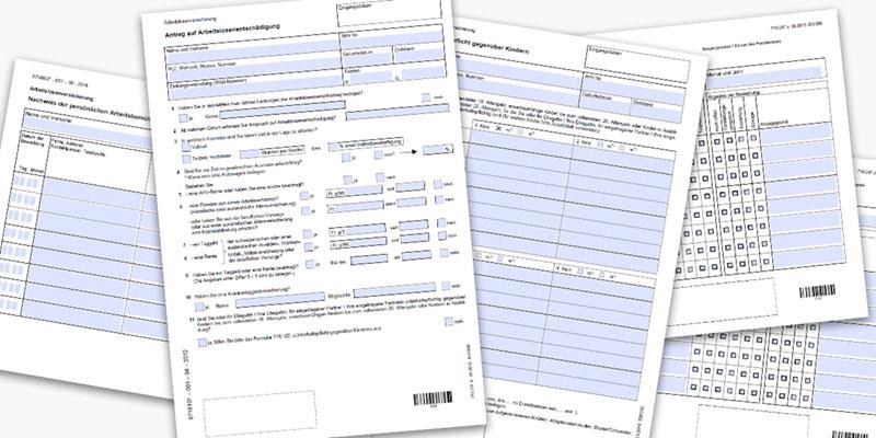 Formulare und Broschüren - Arbeitnehmende